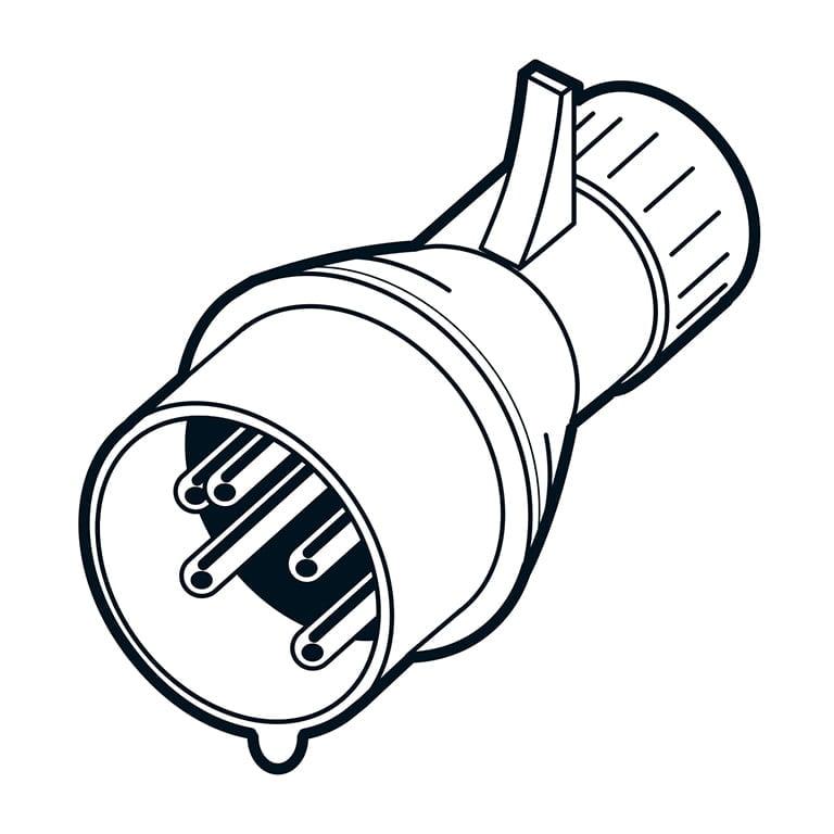 Ortsveränderliches elektrisches Betriebsmittel - 400V Stecker